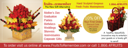 Promotion Exchange Fruits To Remember Mailer